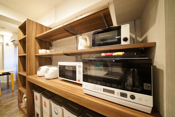 Home appliances are laid out easy to use