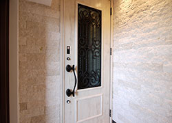 Gorgeous entrance with white tile.
