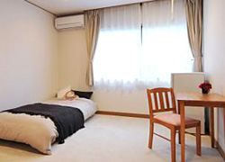 All necessities are fully-equipped, such as bed, refrigerator, etc.