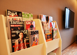 Free rental of latest monthly magazines