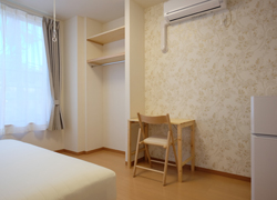 Room205 68,000yen Corner room with huge window.