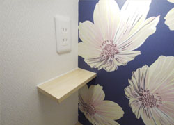 There are outlets and shelves convenient for mobile charging in A, B, E room, bedside.