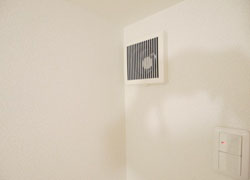 a ventilating fan which give cold and hot air are intalled in all rooms.