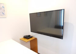 TV with big screen 42 inches.
